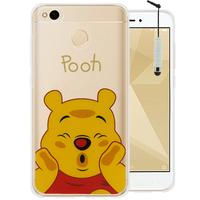 "Xiaomi Redmi 4X 5.0"": Coque Housse silicone TPU Transparente Ultra-Fine Dessin animé jolie + mini Stylet - Winnie the Pooh"