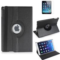 Apple iPad 5 (Air): Accessoire Etui Housse Coque avec support Et Rotative Rotation 360° en cuir PU - NOIR