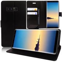 """Samsung Galaxy Note 8 6.3""""/ Note8 Duos: Accessoire Etui portefeuille Livre Housse Coque Pochette support vidéo cuir PU - NOIR"""