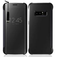 "Samsung Galaxy Note 8 6.3""/ Note8 Duos: Coque Silicone gel rigide Livre rabat + mini Stylet - NOIR"