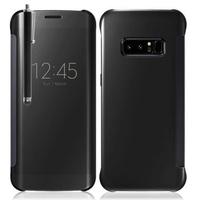"""Samsung Galaxy Note 8 6.3""""/ Note8 Duos: Coque Silicone gel rigide Livre rabat + Stylet - NOIR"""