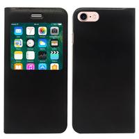 "Apple iPhone 7 4.7"" (non compatible iPhone 7 Plus 5.5''): Etui View Case Flip Folio Leather cover - NOIR"