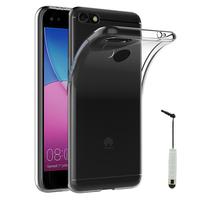 """Huawei Y6 PRO 2017 5.0""""/ P9 lite mini SLA-L02 L22 L03 (non compatible Huawei Y6 2015/ Y6 Pro 2015/ Y6 2017): Accessoire Housse Etui Coque gel UltraSlim et Ajustement parfait + mini Stylet - TRANSPARENT"""