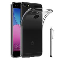 """Huawei Y6 PRO 2017 5.0""""/ P9 lite mini SLA-L02 L22 L03 (non compatible Huawei Y6 2015/ Y6 Pro 2015/ Y6 2017): Accessoire Housse Etui Coque gel UltraSlim et Ajustement parfait + Stylet - TRANSPARENT"""