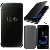 Samsung Galaxy J3 (2017) J330F/DS/ J330G/DS/ J3 Pro (2017) (non compatible Galaxy J3 2016/ 2015): Coque Silicone gel rigide Livre rabat + mini Stylet - NOIR