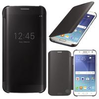 Samsung Galaxy J5 SM-J500F/ J500FN (non compatible Galaxy J5 (2016)): Coque Silicone gel rigide Livre rabat - NOIR
