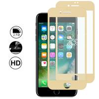 """Apple iPhone 7 4.7"""" (non compatible iPhone 7 Plus 5.5''): Lot/ Pack de 2 Films en Verre Trempé Bord Incurvé Resistant"""