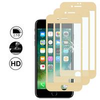 """Apple iPhone 7 4.7"""" (non compatible iPhone 7 Plus 5.5''): Lot/ Pack de 3 Films en Verre Trempé Bord Incurvé Resistant"""