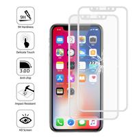 """Apple Iphone X 5.8""""/ iPhone 10/ iPhone Ten: Lot/ Pack de 2 Films en Verre Trempé Bord Incurvé Resistant"""