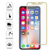 "Apple Iphone X 5.8""/ iPhone 10/ iPhone Ten: 1 Film en Verre Trempé Bord Incurvé Resistant"