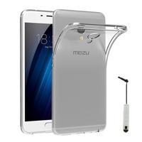 """Meizu M3E 5.5"""": Accessoire Housse Etui Coque gel UltraSlim et Ajustement parfait + mini Stylet - TRANSPARENT"""
