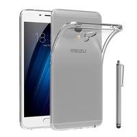 """Meizu M3E 5.5"""": Accessoire Housse Etui Coque gel UltraSlim et Ajustement parfait + Stylet - TRANSPARENT"""