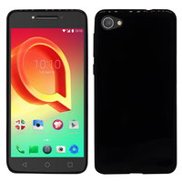 "Alcatel A5 LED 5.2"": Housse Coque TPU Silicone Gel Souple Translucide Ultra Fine - NOIR"
