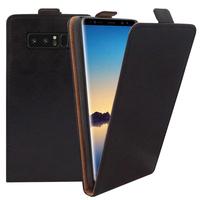 """Samsung Galaxy Note 8 6.3""""/ Note8 Duos: Accessoire Housse Coque Pochette Etui protection vrai cuir à rabat vertical - NOIR"""