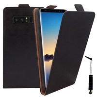 """Samsung Galaxy Note 8 6.3""""/ Note8 Duos: Accessoire Housse Coque Pochette Etui protection vrai cuir à rabat vertical + mini Stylet - NOIR"""