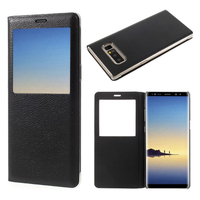 """Samsung Galaxy Note 8 6.3""""/ Note8 Duos: Etui View Case Flip Folio Leather cover - NOIR"""