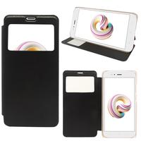 "Xiaomi Mi A1/ Mi 5X 5.5"": Etui View Case Flip Folio Leather cover - NOIR"