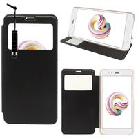 """Xiaomi Mi A1/ Mi 5X 5.5"""": Etui View Case Flip Folio Leather cover + mini Stylet - NOIR"""