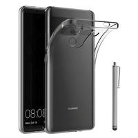"""Huawei Mate 10 Porsche Design 6.0"""" (non compatible Mate 10 5.9""""): Accessoire Housse Etui Coque gel UltraSlim et Ajustement parfait + Stylet - TRANSPARENT"""