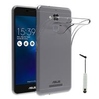 """Asus Zenfone 3 Max ZC520TL 5.2"""": Accessoire Housse Etui Coque gel UltraSlim et Ajustement parfait + mini Stylet - TRANSPARENT"""