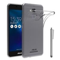 """Asus Zenfone 3 Max ZC520TL 5.2"""": Accessoire Housse Etui Coque gel UltraSlim et Ajustement parfait + Stylet - TRANSPARENT"""