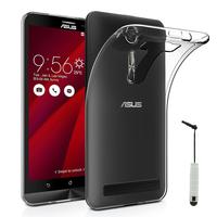 """Asus Zenfone 2 Laser ZE600KL/ ZE601KL 6.0"""": Accessoire Housse Etui Coque gel UltraSlim et Ajustement parfait + mini Stylet - TRANSPARENT"""