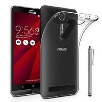 """Asus Zenfone 2 Laser ZE600KL/ ZE601KL 6.0"""": Accessoire Housse Etui Coque gel UltraSlim et Ajustement parfait + Stylet - TRANSPARENT"""