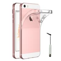 Apple iPhone 5/ 5S/ SE: Accessoire Housse Etui Coque gel UltraSlim et Ajustement parfait + mini Stylet - TRANSPARENT