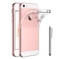 Apple iPhone 5/ 5S/ SE: Accessoire Housse Etui Coque gel UltraSlim et Ajustement parfait + Stylet - TRANSPARENT