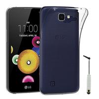 LG K4 K120E/ K130E/ K121: Accessoire Housse Etui Coque gel UltraSlim et Ajustement parfait + mini Stylet - TRANSPARENT