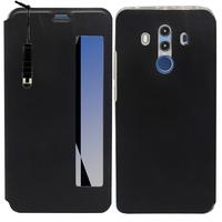 "Huawei Mate 10 Pro 6.0"" BLA-L09/ L29/ AL00 (non compatible Mate 10 5.9""): Etui View Case Flip Folio Leather cover + mini Stylet - NOIR"
