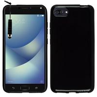 "Asus Zenfone 4 Max/ Max Pro/ Max Plus ZC554KL 5.5"" (non compatible Zenfone 4 Max ZC520KL 5.2""): Housse Coque TPU Silicone Gel Souple Translucide Ultra Fine + mini Stylet - NOIR"