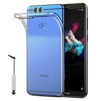 """Huawei Honor 7X 5.93"""" BND-L21/ L22/ L24/ AL10/ TL10: Accessoire Housse Etui Coque gel UltraSlim et Ajustement parfait + mini Stylet - TRANSPARENT"""
