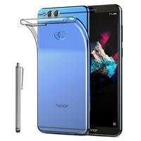 """Huawei Honor 7X 5.93"""" BND-L21/ L22/ L24/ AL10/ TL10: Accessoire Housse Etui Coque gel UltraSlim et Ajustement parfait + Stylet - TRANSPARENT"""
