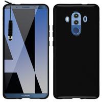 "Huawei Mate 10 Pro 6.0"" BLA-L09/ L29/ AL00 (non compatible Mate 10 5.9""): Housse Coque TPU Silicone Gel Souple Translucide Ultra Fine + mini Stylet - NOIR"