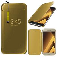 "Samsung Galaxy A5 (2017) 5.2"" A520F/ A5 (2017) Duos (non compatible Version 2014/ 2015/ 2016): Coque Silicone gel rigide Livre rabat + mini Stylet - JAUNE"