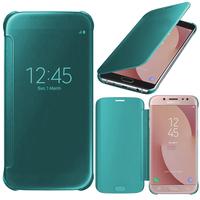 Samsung Galaxy J7 (2017) SM-J730F/DS/ J7 (2017) Duos J730F/DS: Coque Silicone gel rigide Livre rabat - BLEU