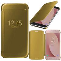 Samsung Galaxy J7 (2017) SM-J730F/DS/ J7 (2017) Duos J730F/DS: Coque Silicone gel rigide Livre rabat - JAUNE