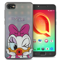 "Alcatel A5 LED 5.2"": Coque Housse silicone TPU Transparente Ultra-Fine Dessin animé jolie - Daisy Duck"