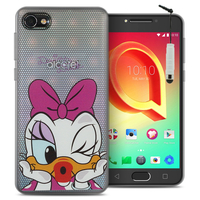 "Alcatel A5 LED 5.2"": Coque Housse silicone TPU Transparente Ultra-Fine Dessin animé jolie + mini Stylet - Daisy Duck"