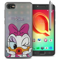 "Alcatel A5 LED 5.2"": Coque Housse silicone TPU Transparente Ultra-Fine Dessin animé jolie + Stylet - Daisy Duck"