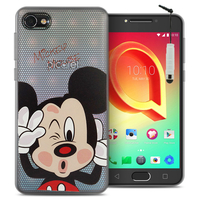 "Alcatel A5 LED 5.2"": Coque Housse silicone TPU Transparente Ultra-Fine Dessin animé jolie + mini Stylet - Mickey Mouse"