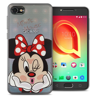 "Alcatel A5 LED 5.2"": Coque Housse silicone TPU Transparente Ultra-Fine Dessin animé jolie - Minnie Mouse"