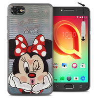 "Alcatel A5 LED 5.2"": Coque Housse silicone TPU Transparente Ultra-Fine Dessin animé jolie + mini Stylet - Minnie Mouse"