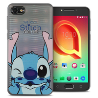 "Alcatel A5 LED 5.2"": Coque Housse silicone TPU Transparente Ultra-Fine Dessin animé jolie - Stitch"