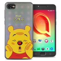 "Alcatel A5 LED 5.2"": Coque Housse silicone TPU Transparente Ultra-Fine Dessin animé jolie - Winnie the Pooh"