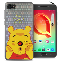 "Alcatel A5 LED 5.2"": Coque Housse silicone TPU Transparente Ultra-Fine Dessin animé jolie + mini Stylet - Winnie the Pooh"