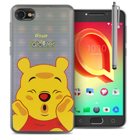 "Alcatel A5 LED 5.2"": Coque Housse silicone TPU Transparente Ultra-Fine Dessin animé jolie + Stylet - Winnie the Pooh"