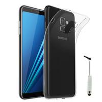 """Samsung Galaxy A8+/ A8 Plus (2018) A730F 6.0""""/ A8+ (2018) Duos A730F/DS: Accessoire Housse Etui Coque gel UltraSlim et Ajustement parfait + mini Stylet - TRANSPARENT"""