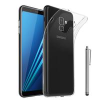 """Samsung Galaxy A8+/ A8 Plus (2018) A730F 6.0""""/ A8+ (2018) Duos A730F/DS: Accessoire Housse Etui Coque gel UltraSlim et Ajustement parfait + Stylet - TRANSPARENT"""